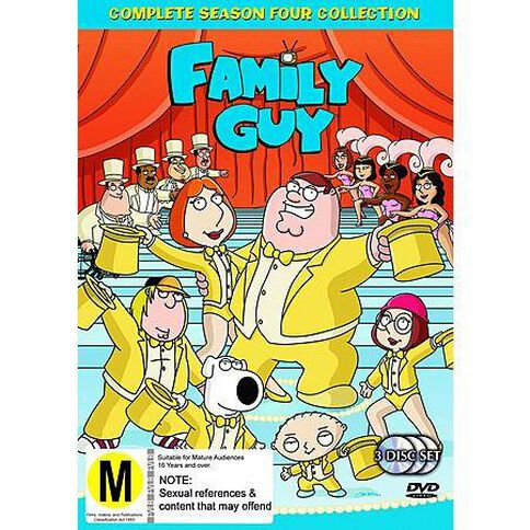 Family Guy Season 4 DVD 3Disc