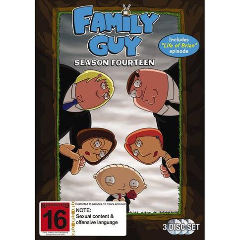 Family Guy Season 14 DVD 3Disc