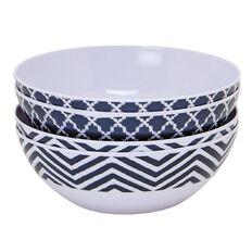 Living & Co Outdoor Bowl Melamine Blue 4 Piece