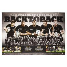 All Blacks Black to Back Poster