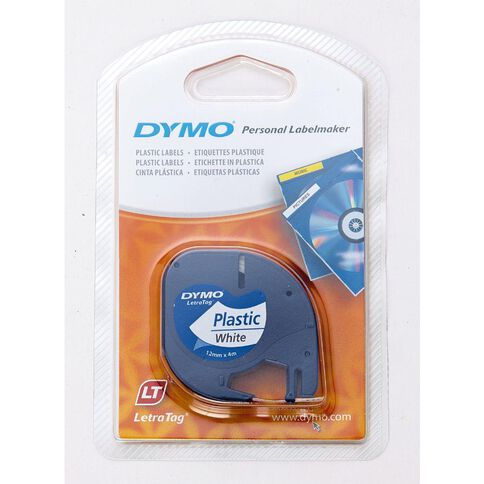 Dymo Letratag Plastic Labels Pearl White