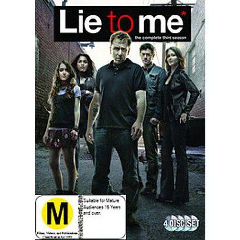 Lie To Me Season 3 DVD 5Disc