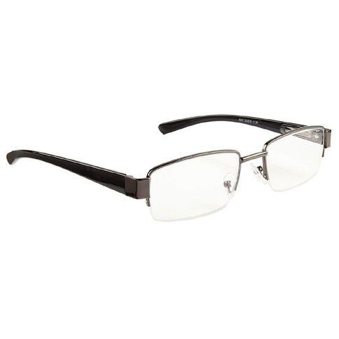 Focus Reading Glasses Half Eye Gunmetal 1.00