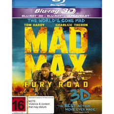Mad Max Fury Road 2D/3D Blu-ray 2Disc