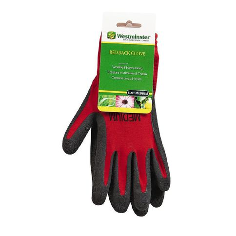 Westminster Red Back Gloves Abrasion and Prickle Resistant Medium
