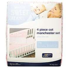 Mother's Choice Olivia the Owl Manchester Set 4 Pack Pink