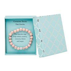 Stainless Steel Pink Howlite Bracelet
