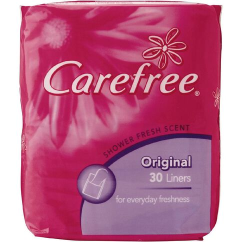 Carefree Panty Liners Shower Fresh 30 Pack