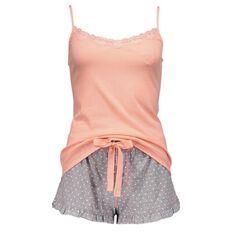 Basics Brand Women's Singlet Shortie Knit Pyjamas