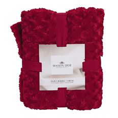 Maison d'Or Throw Silky Bobble Red