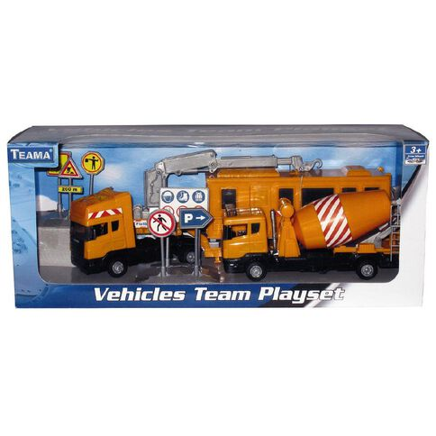 Teama Construction Vehicles Team Play Set
