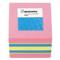 Deskwise Sticky Notes Stack Bright Small