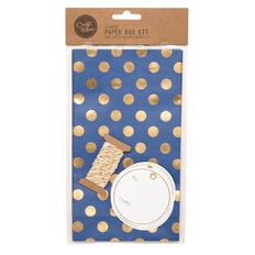 Craftwise Seaside Paper Bag Kit Blue and Gold