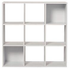 Living & Co Madrid Display Shelf 9 Cube White