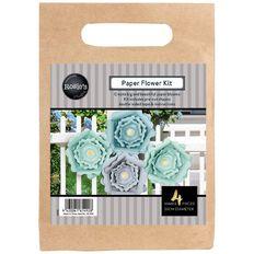 Rosie's Studio Paper Flowers Mint 25cm 4 Piece