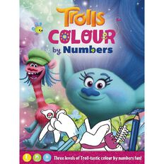 Trolls Colour by Numbers Book