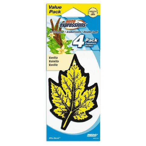 Scents Car Air Freshener 4 Pack Vanilla