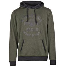 Active Intent Men's French Terry Marl Printed Hoodie