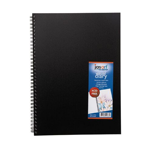 Jasart Visual Diary A4 Spiral 110Gsm 60 Sheet