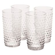 Living & Co Textured Hiball Glasses 4 Pack