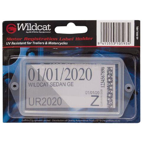 Wildcat Trailer Rego Holder