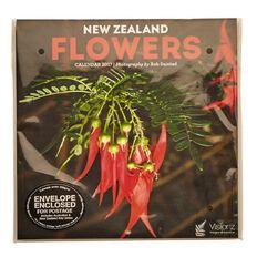 Calendar 2017 NZ Flowers Compact 180mm x 180mm