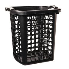 Taurus Laundry Hamper Black 60L