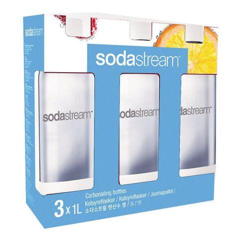 Sodastream Carbonating Bottle White 1L 2+1 Pack
