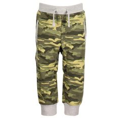 Hippo + Friends Toddler Boy All Over Print Camo Trackpants