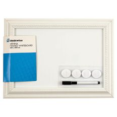 Deskwise Magnetic White Board Vienna Frame 300mm x 400mm