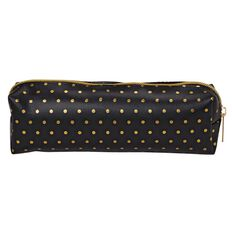 Stylo Pencil Case Black with Gold Foil Dots