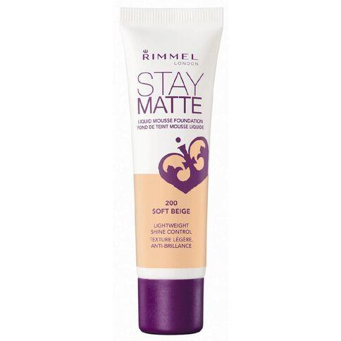 Rimmel Stay Matte Foundation True Ivory