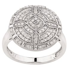 1/2 Carat of Diamonds Sterling Silver Maze Ring