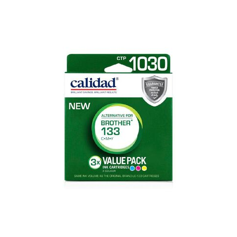 Calidad Brother Ink LC133 CMY 3 Pack