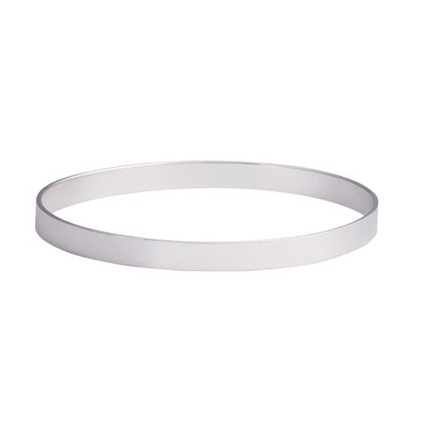 Sterling Silver Square Flat Tube Bangle 6mm