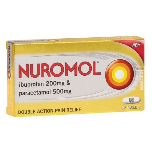 Nuromol Tablets 12s - LIMIT OF 1 PER CUSTOMER