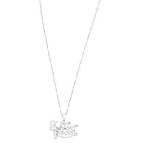 Sterling Silver Diamond Someone Special Pendant