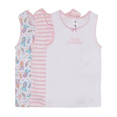 H&H Girls' Fashion Singlets 3 Pack