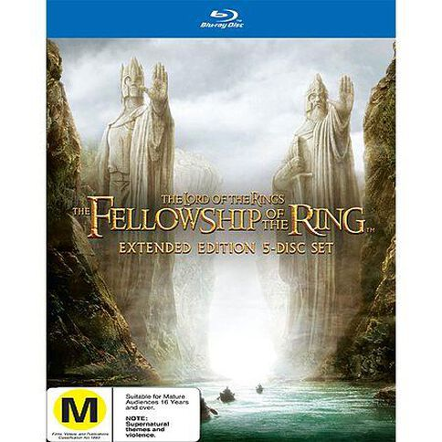 Lord of the Rings Fellowship of the Ring Blu-ray 5Disc