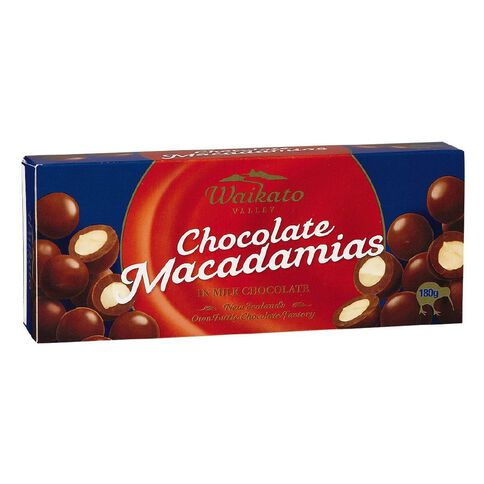 Waikato Valley Chocolates Milk Chocolate Macadamias 180g