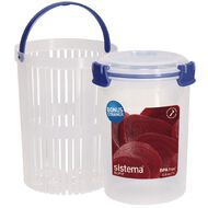 Sistema Klip It Blue Round Container 1L
