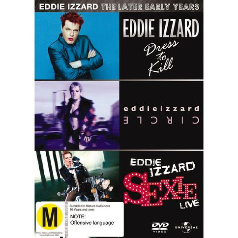 E Izzard The Later Early Years Dress To Kill Circle Sexie DVD 3Disc