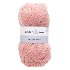 Stitch and Sew Yarn 4-Ply Baby Pink 50g