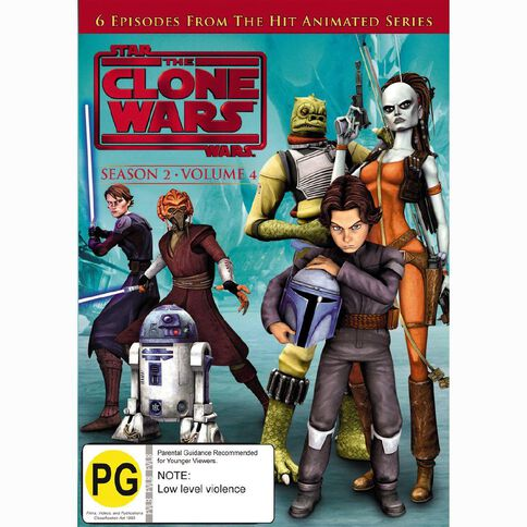 Star Wars Clone Wars Season 2 Volume 4 DVD 1Disc