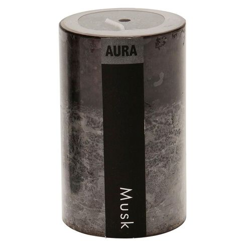 Aura Pillar Candle Musk 10cm