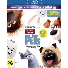 The Secret Life Of Pets 3D Blu-ray 2Disc