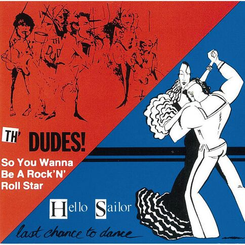 NZ 1980s Classic Rock CD by The Dudes & Hello Sailor 1Disc