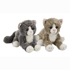 Silky Cats Lying Large 30cm Assorted Colours