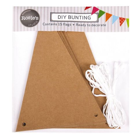 Rosie's Studio DIY Triangle Bunting with Ribbon 15 Pieces