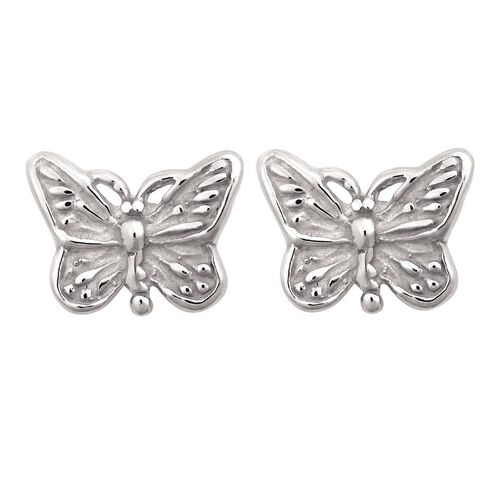 Sterling Silver Mini Butterfly Stud Earrings